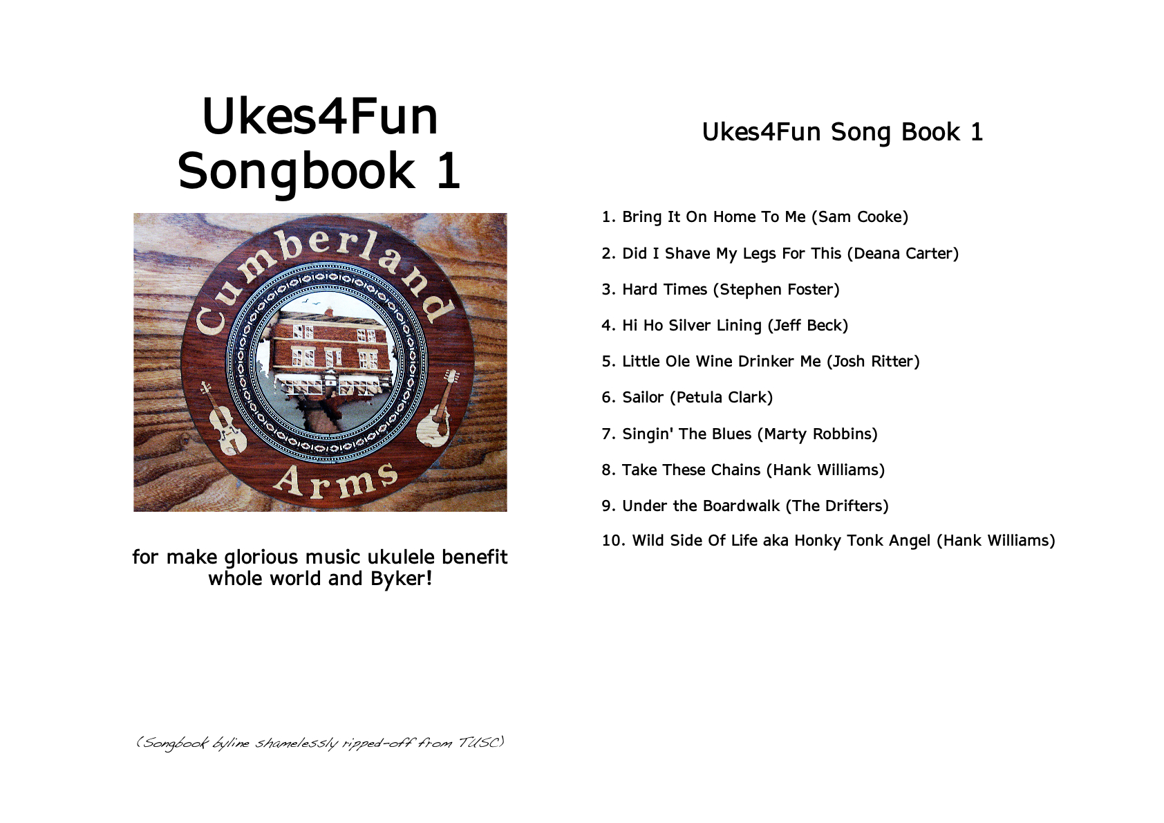 Songsheets ukes4fun ukes4fun songbook 1 fancy cover hexwebz Images