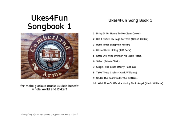 Ukes4Fun Songbook 1 ~ Fancy Cover