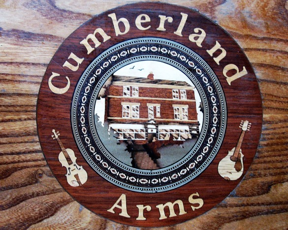 Vicky Lee's beautiful marquetry table-tops at the Cumberland Arms