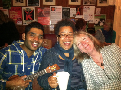 Anil, Jo and Lizzie and Ukes4Fun