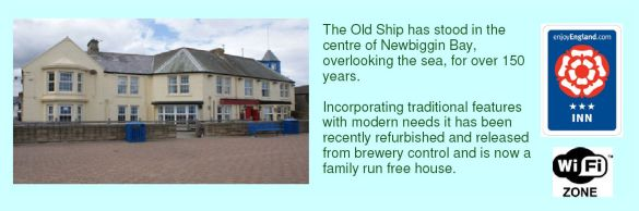 Old Ship, Newbiggin-by-the-Sea - front, facing the prom