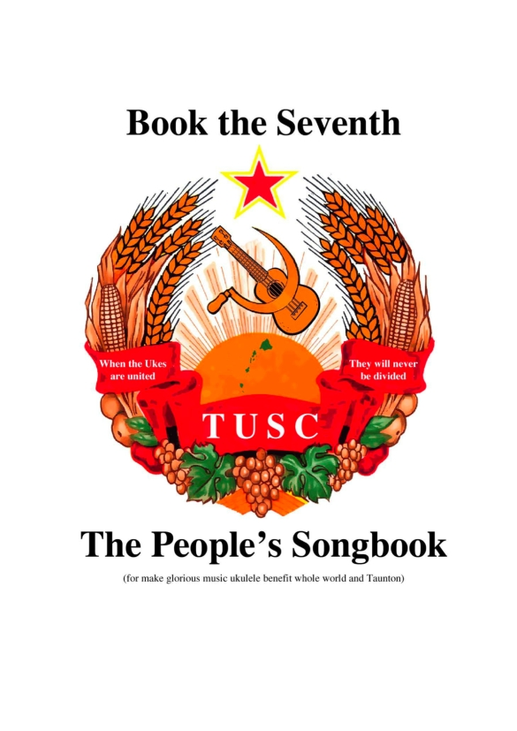 "TUSC Songbook 7 cover - wonderful ""Borat"" artwork!"