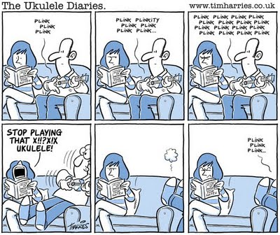 Tim Harries ukulele advice cartoon