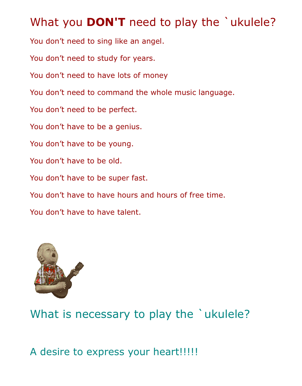 how to play 5 years time on ukulele