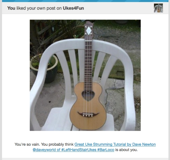 You probably think this strum is about you . . .