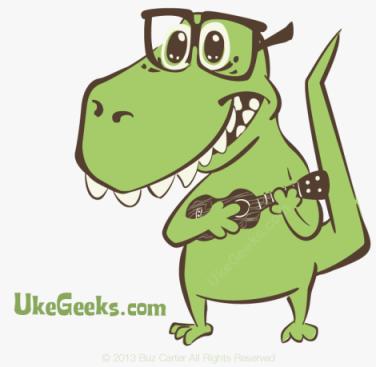 ukegeeks-dino-with-ukulele-mascot-470x459