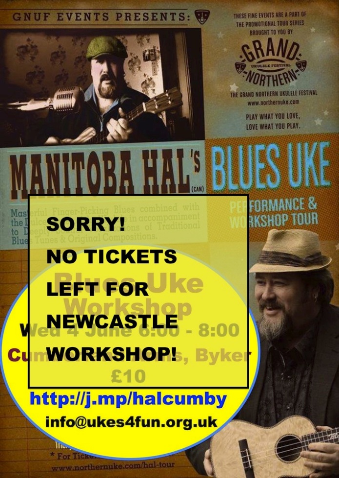 Manitoba Hal Blues Uke Workshop Newcastle 4 June 2014 sold out