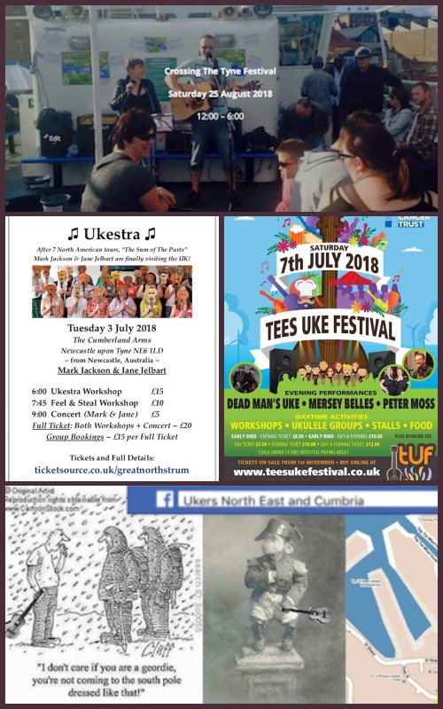 Summer Break 2018 + ukulele events and festivals
